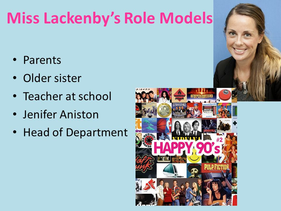 Miss Lackenby's Role Models
