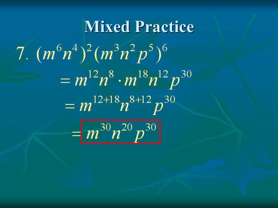 Mixed Practice
