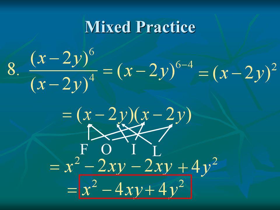 Mixed Practice F O I L