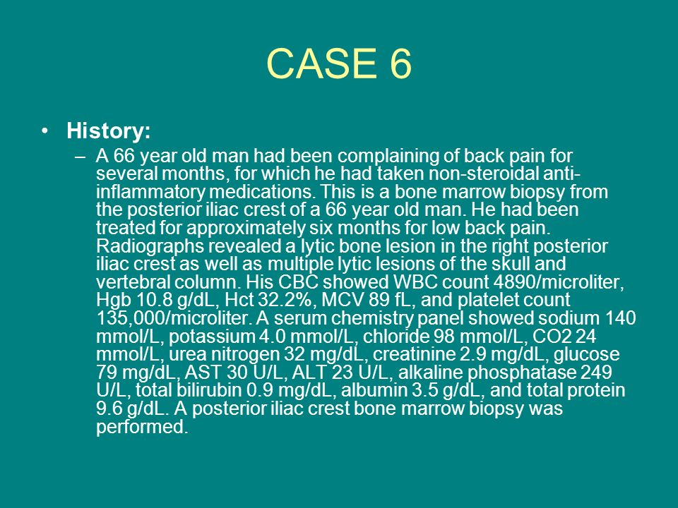 CASE 6 History: