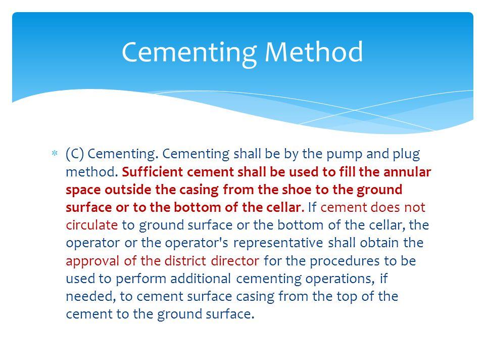Cementing Method