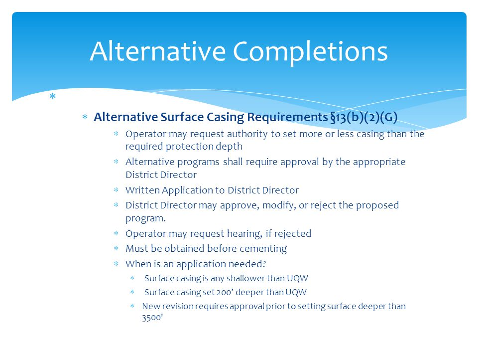 Alternative Completions