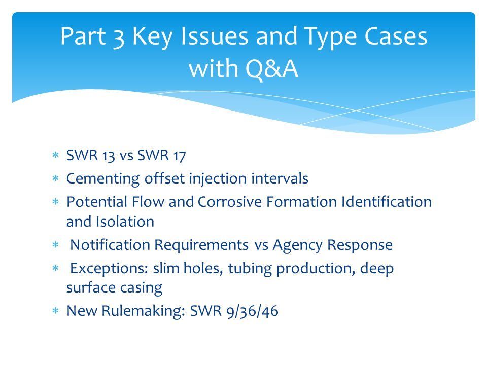 Part 3 Key Issues and Type Cases with Q&A