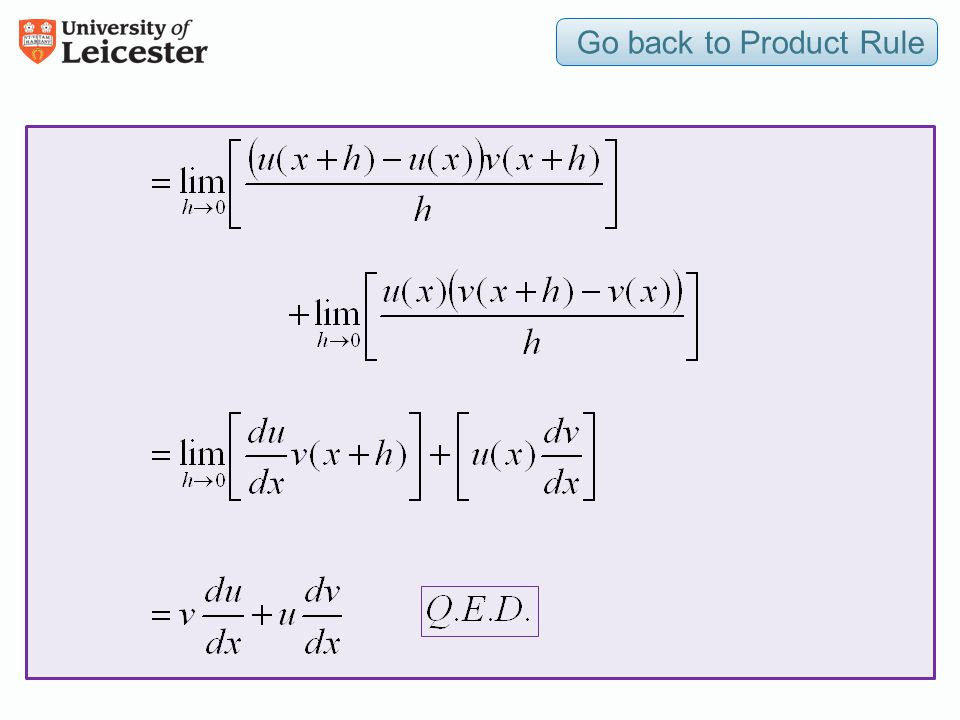 Go back to Product Rule