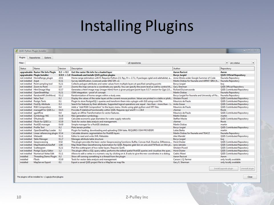 Installing Plugins Z-Pulley Inc Z-Pulley Inc