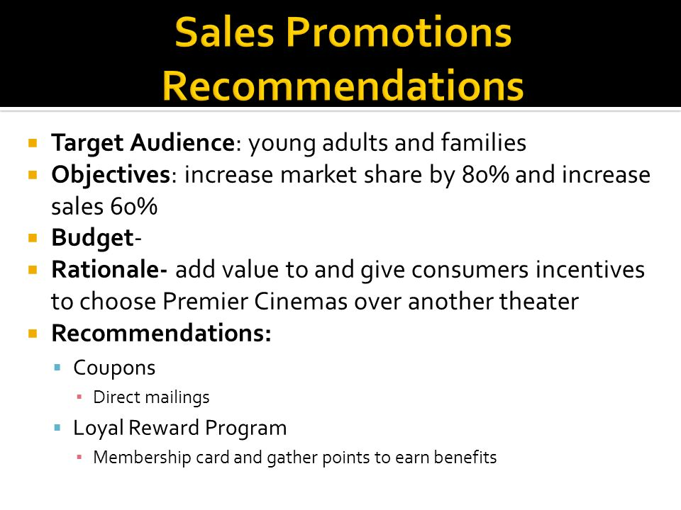 Sales Promotions Recommendations
