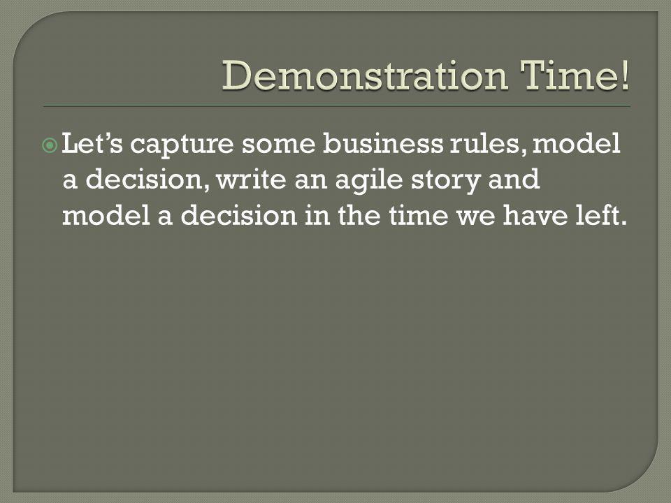 Demonstration Time.