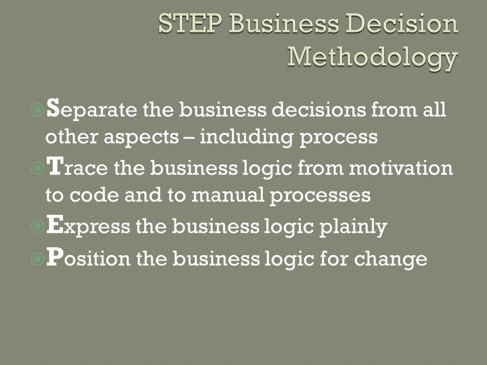STEP Business Decision Methodology