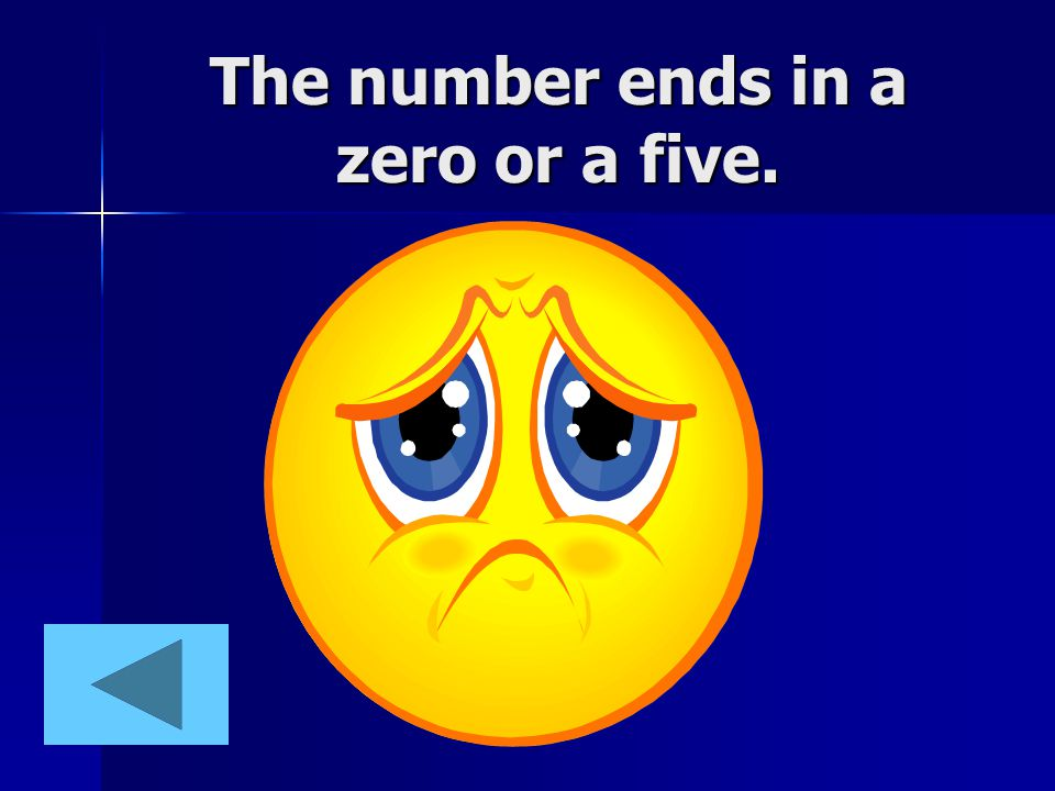 The number ends in a zero or a five.