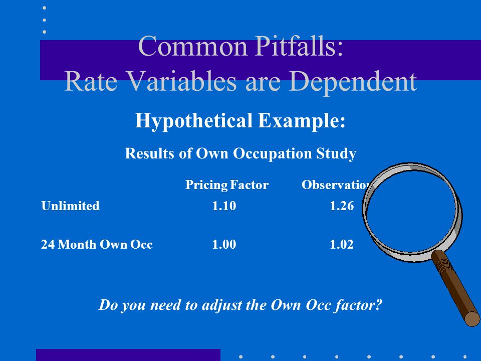 Common Pitfalls: Rate Variables are Dependent