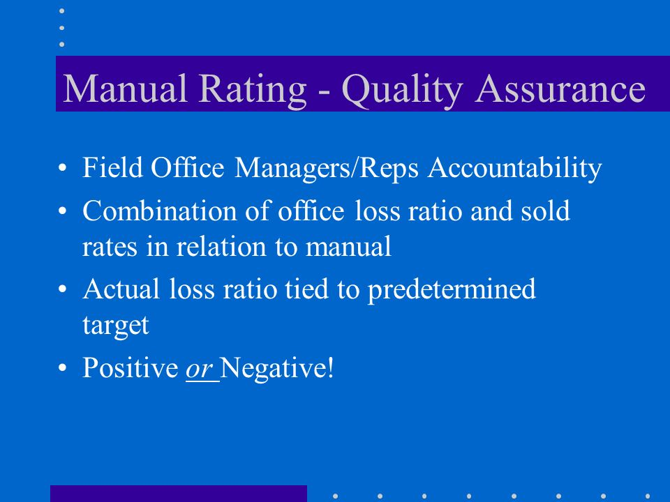 Manual Rating - Quality Assurance