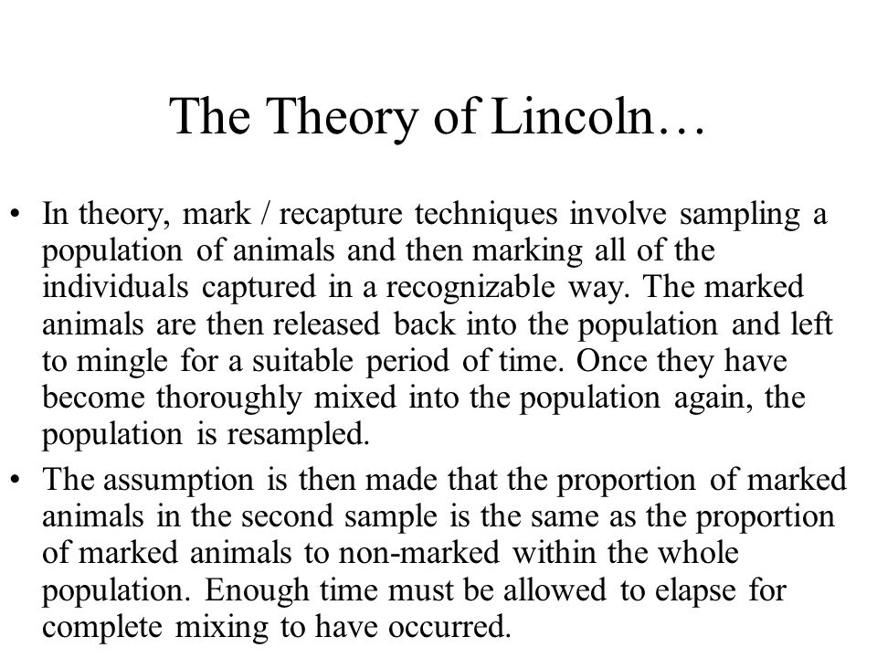 The Theory of Lincoln…