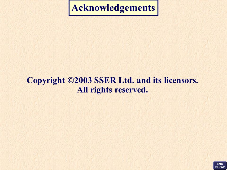 Copyright ©2003 SSER Ltd. and its licensors. All rights reserved.