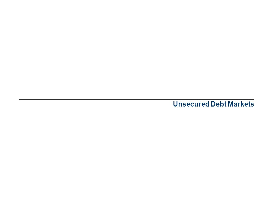 Unsecured Debt Markets
