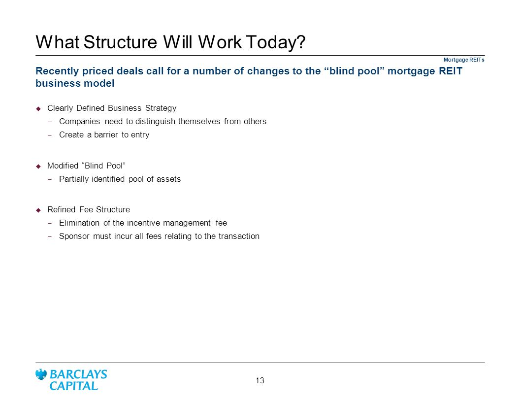 What Structure Will Work Today