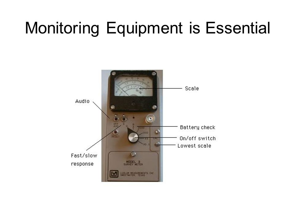 Monitoring Equipment is Essential