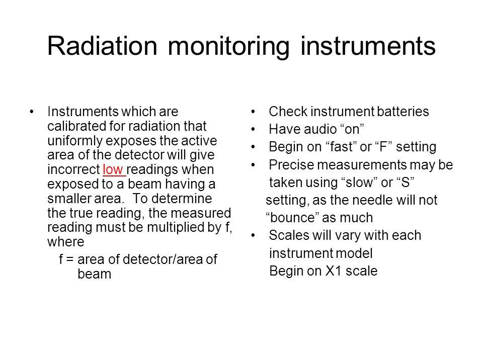 Radiation monitoring instruments