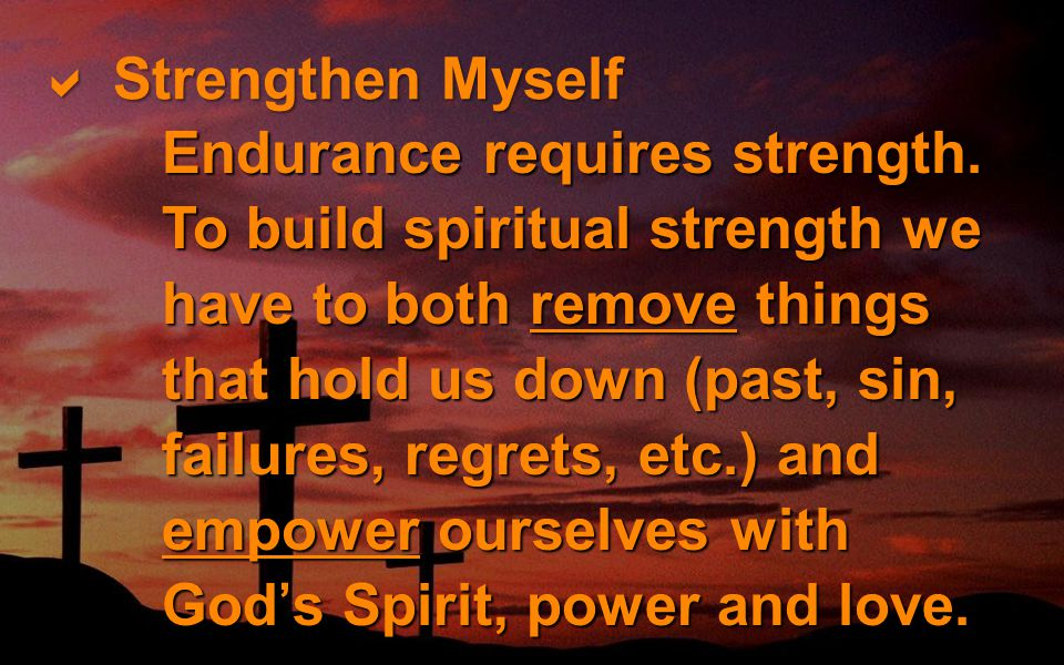 Strengthen Myself