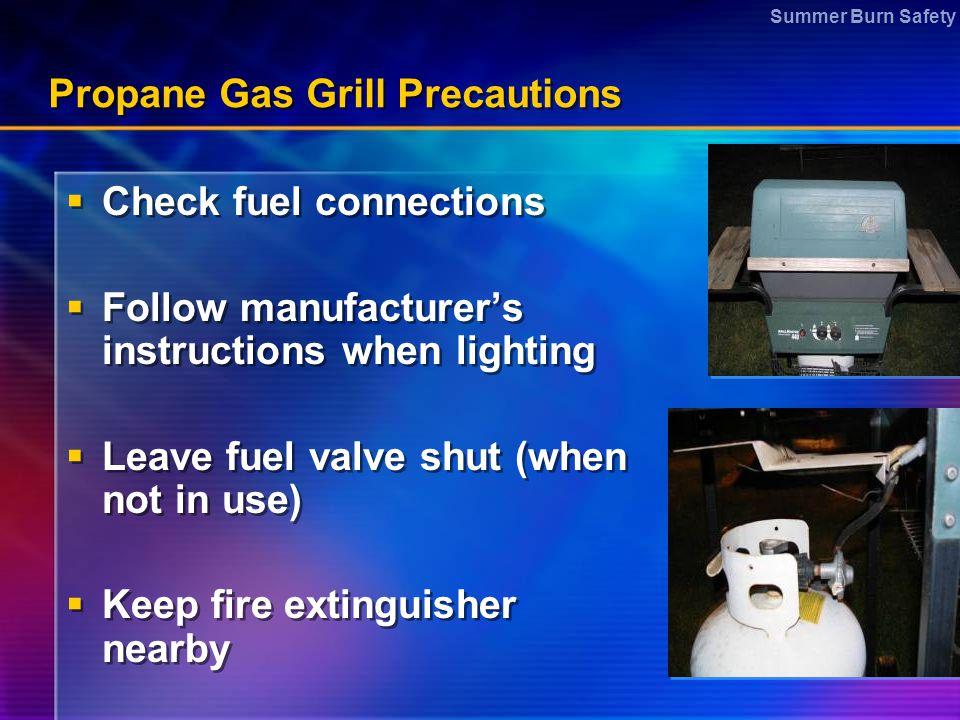 Propane Gas Grill Precautions