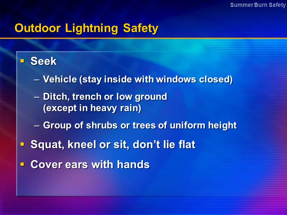 Outdoor Lightning Safety