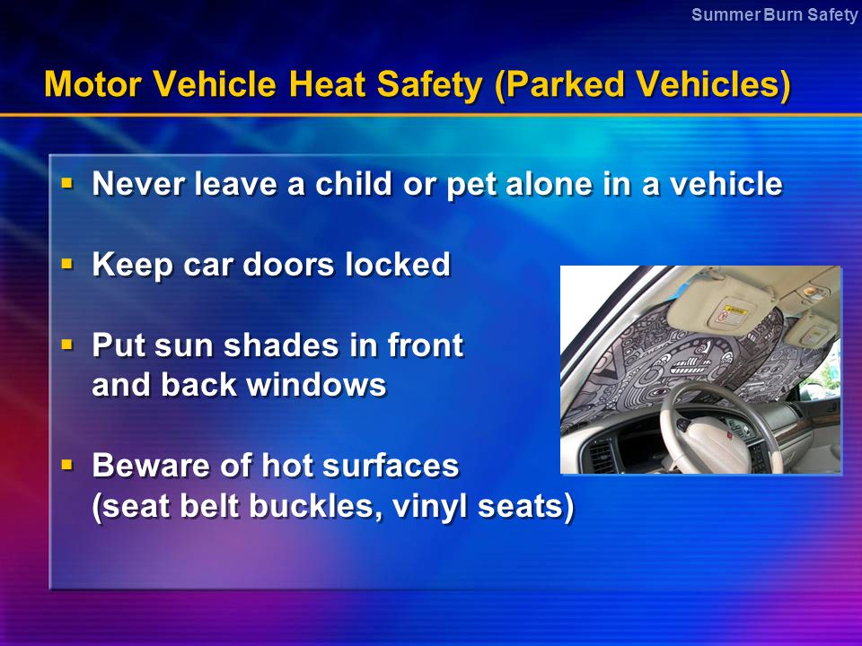 Motor Vehicle Heat Safety (Parked Vehicles)