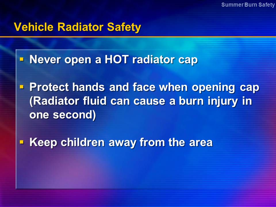 Vehicle Radiator Safety