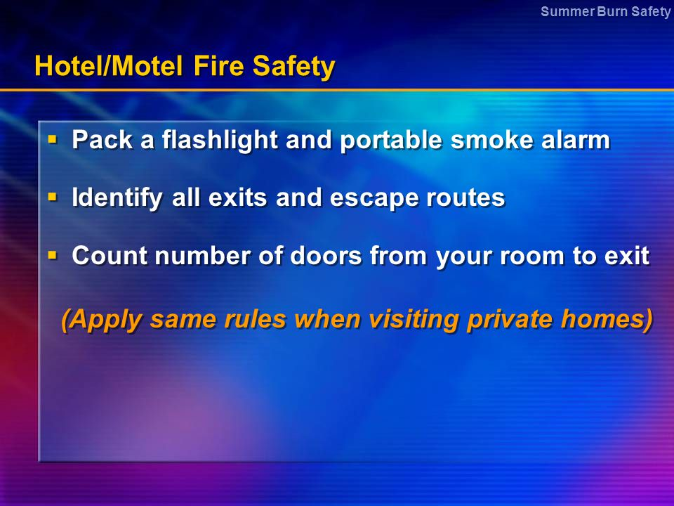 Hotel/Motel Fire Safety