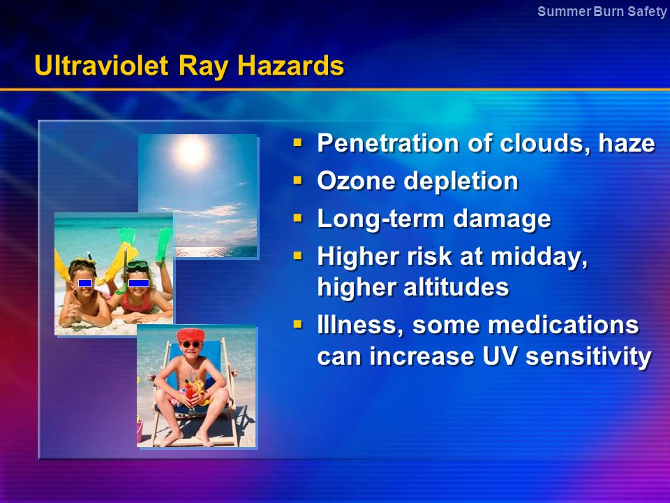 Ultraviolet Ray Hazards