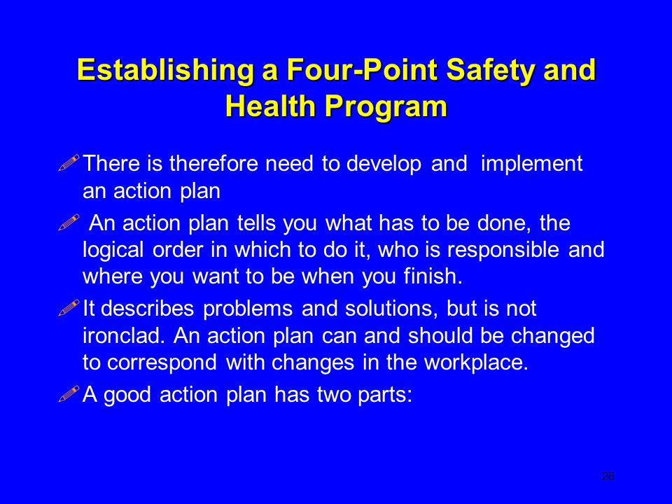 Establishing a Four-Point Safety and Health Program