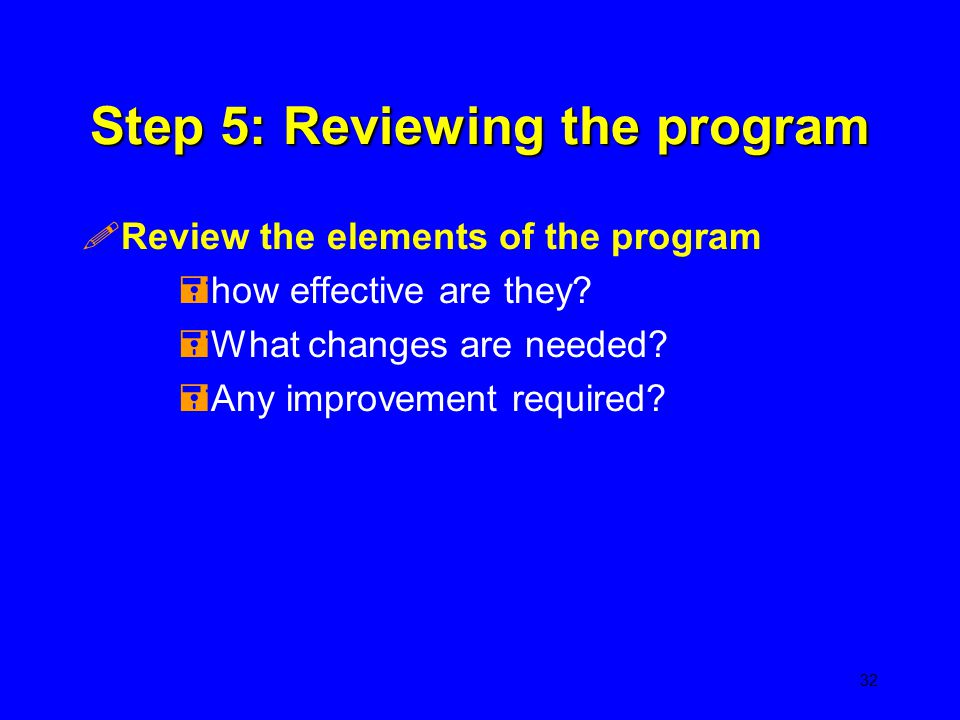 Step 5: Reviewing the program