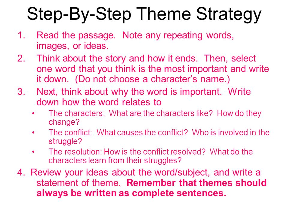 Step-By-Step Theme Strategy
