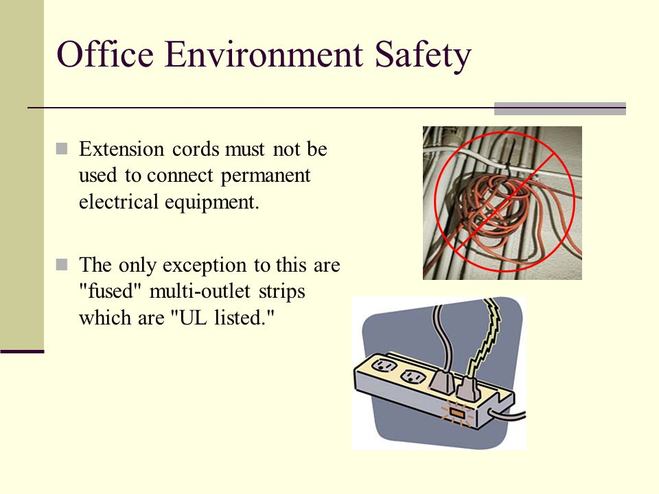 Office Environment Safety