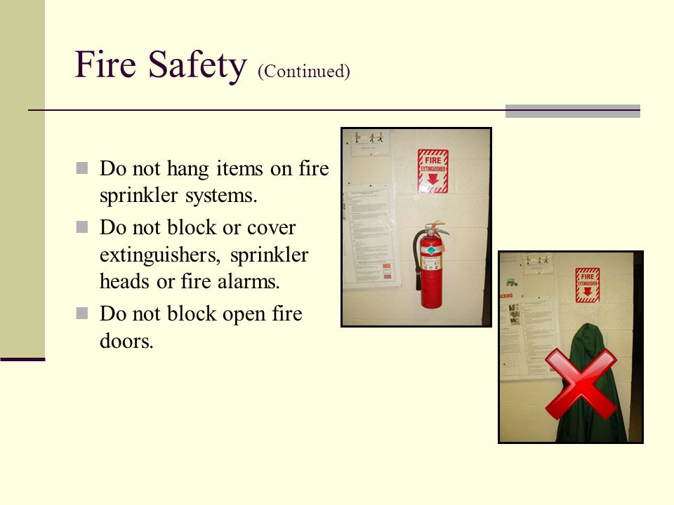 Fire Safety (Continued)