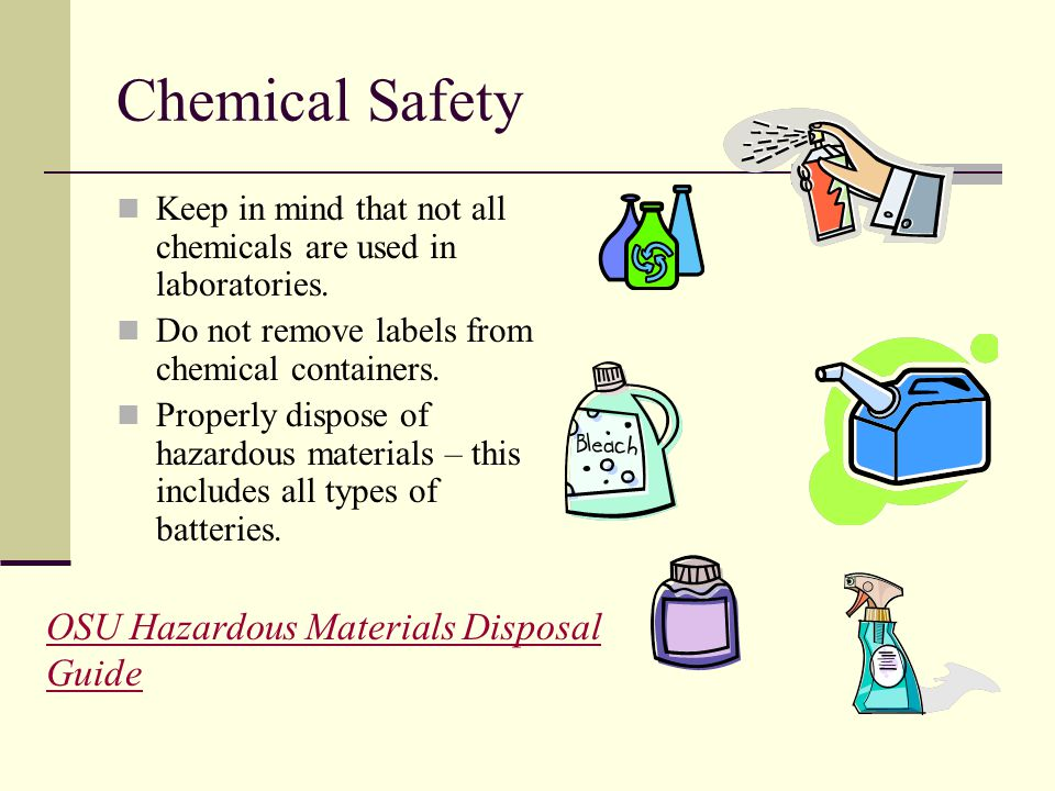Chemical Safety OSU Hazardous Materials Disposal Guide