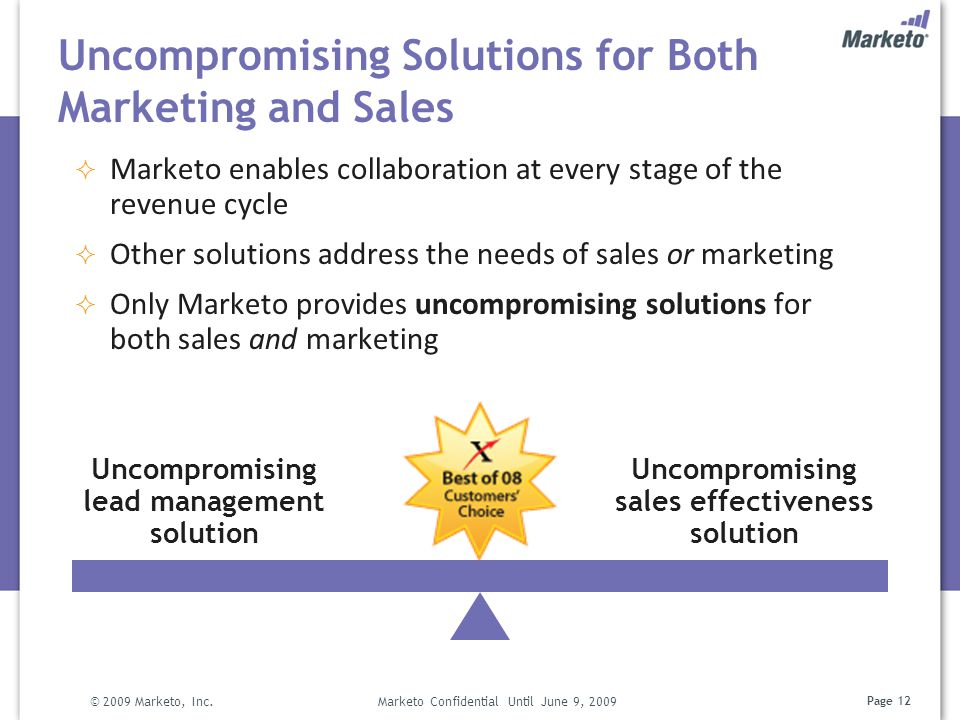 Uncompromising Solutions for Both Marketing and Sales