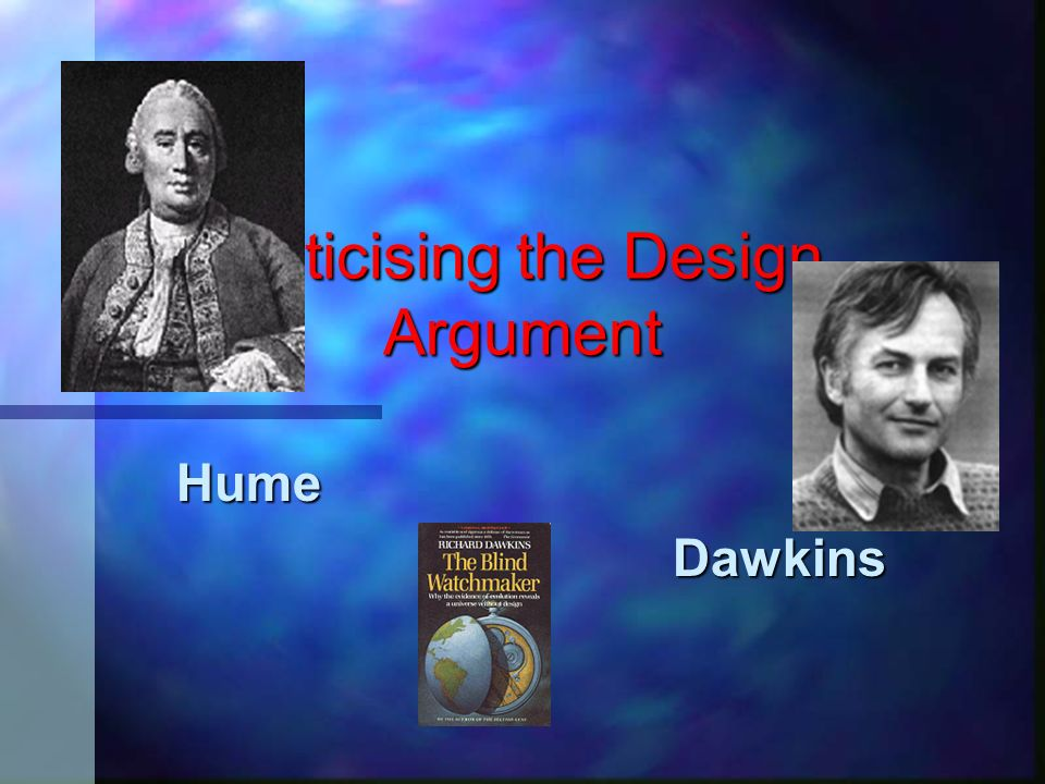 Criticising the Design Argument