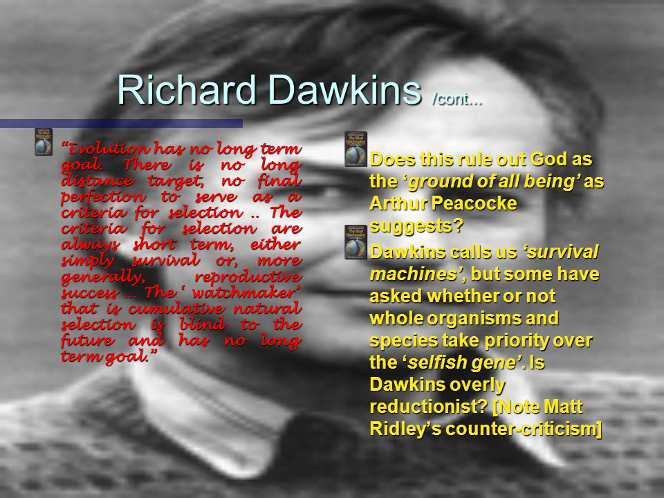 Richard Dawkins /cont...