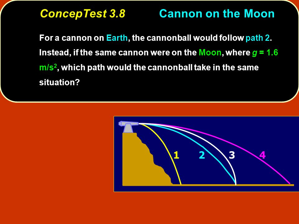ConcepTest 3.8 Cannon on the Moon