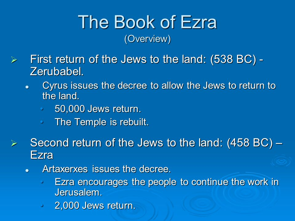 The Book of Ezra (Overview)