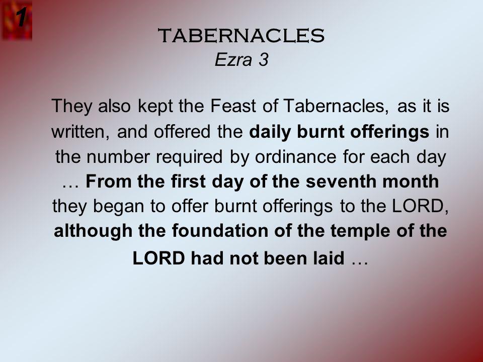 1 tabernacles Ezra 3.