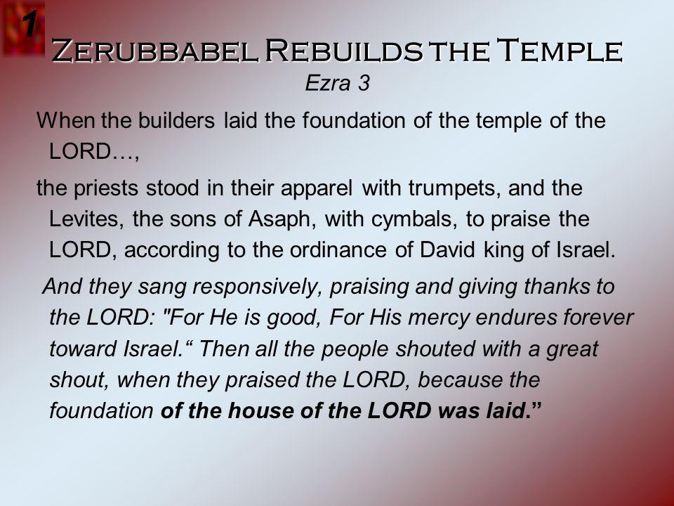Zerubbabel Rebuilds the Temple Ezra 3