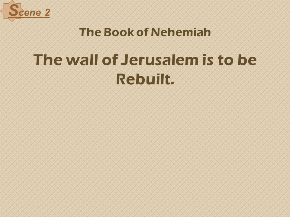 The wall of Jerusalem is to be Rebuilt.