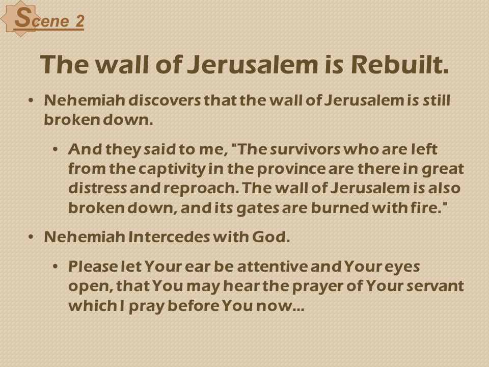The wall of Jerusalem is Rebuilt.