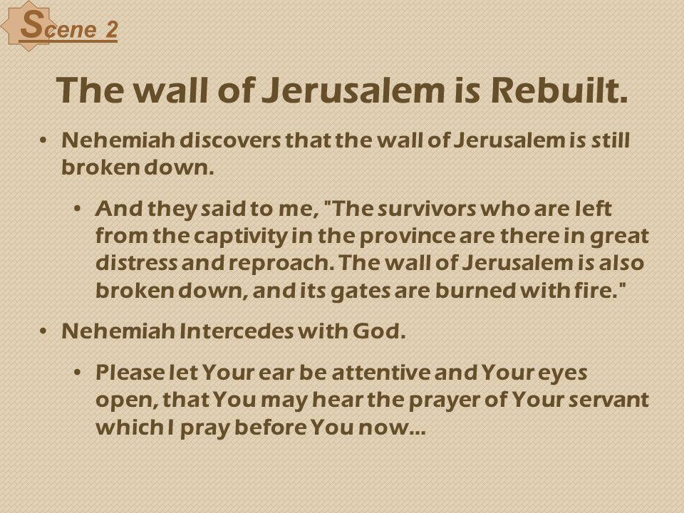 The wall of Jerusalem is Rebuilt.