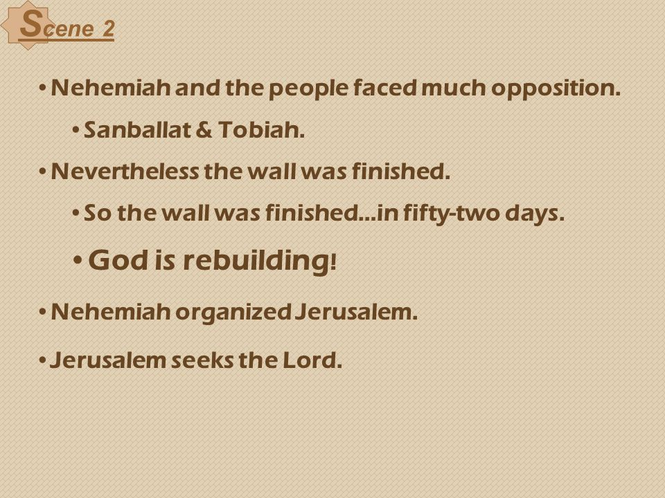 Scene 2 God is rebuilding!