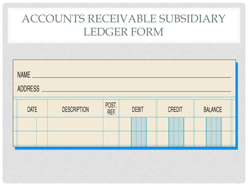 Accounts receivable subsidiary ledger form