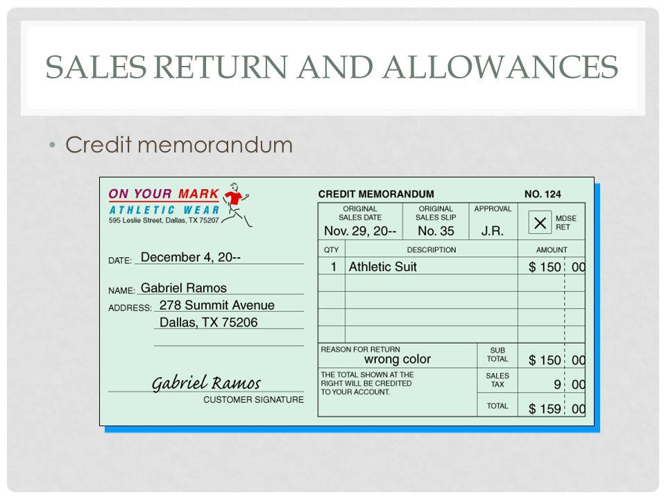 Sales return and allowances