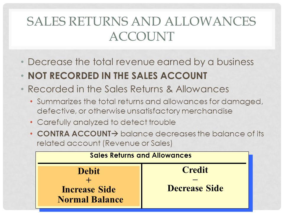 Sales returns and allowances account