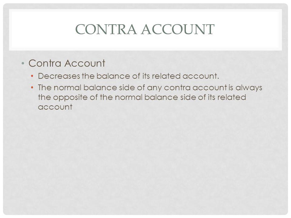 Contra account Contra Account