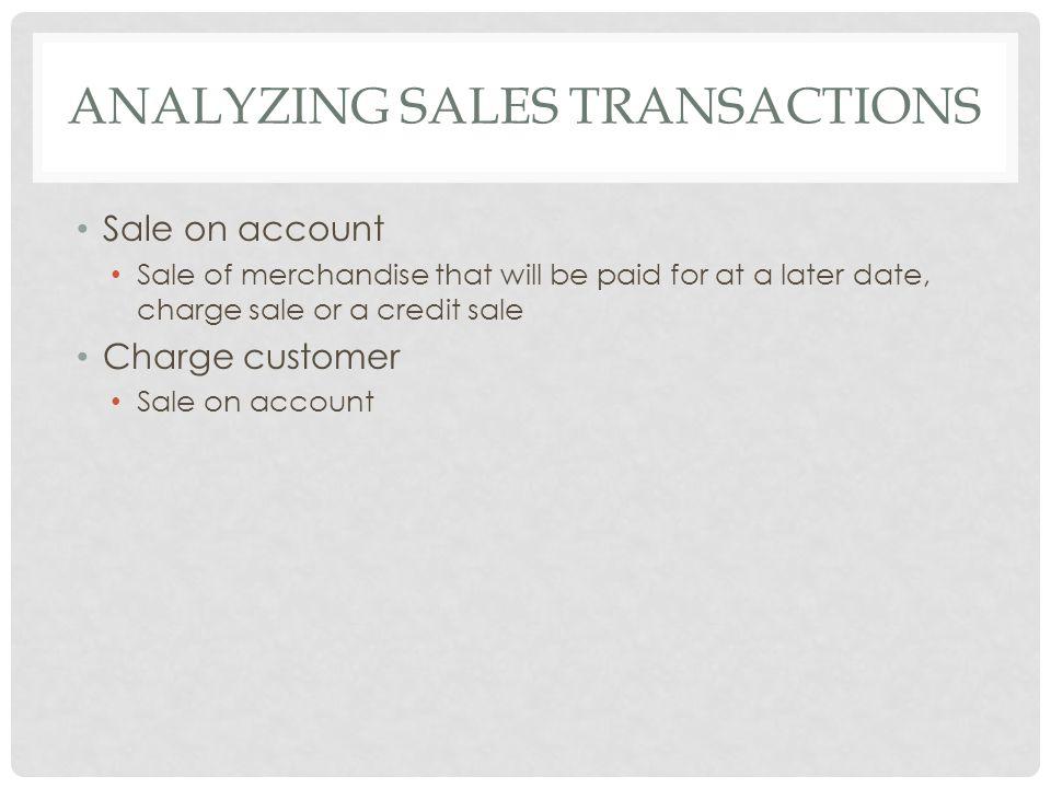 Analyzing Sales Transactions
